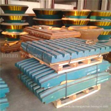 Mangan Stahl Backenbrecher Platte für Zement
