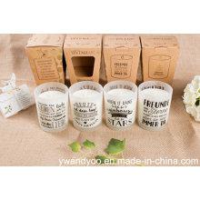 Vela de masaje romántica perfumada de soja natural en vidrio
