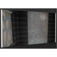 Espelho de quadro de alumínio com luz em dois flancos