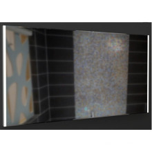 Зеркало алюминиевая рама со светом в двух флангов