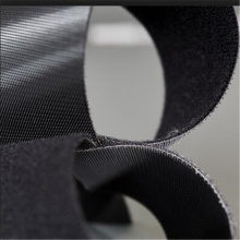 Black sticky back to back Velcro fastener