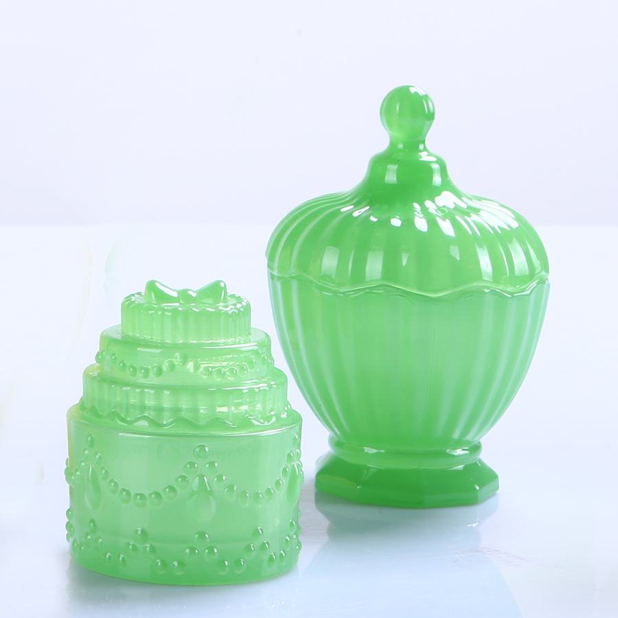 Br 1537 Elegant Crystal Glass Candy Box Glass Storage Jar