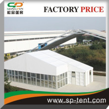 big glass wall restaurant tent alumnum white 50x60m marquee for 2000 people outdoor event with dance floor system