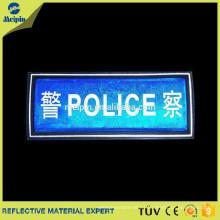 Parches reflectantes de seguridad de PVC para accesorios de prendas de vestir
