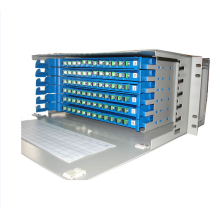 96 ช่องเสียบ Rack Mount LC-Port Cross Optical ODF