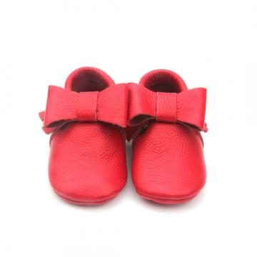Handmade Christmas Baby Girl Party strik moccasins