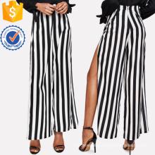 High Slit Striped Palazzo Pants Manufacture Wholesale Fashion Women Apparel (TA3092P)