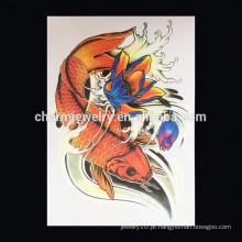 OEM atacado mais novo design animal braço tatuagem barato tatuagem adesivos tatuagem impermeável W-1031 braço