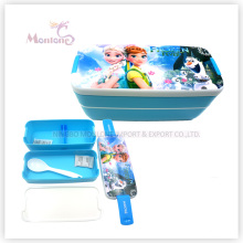 Hot Selling Plastic Bento Kids Lunch Box with Lock (750ml)