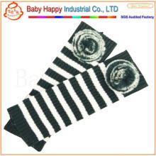 Zebra Design Newest Wholesale Baby Knit Leg Warmers