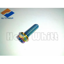 rainbow titanium flanged bolt