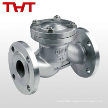 Stainless steel CF8 vertical lift type flange horizental lift check valve