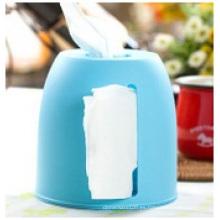 Caja plástica del pañuelo de la publicidad modificada para requisitos particulares, caja del pañuelo de los PP del rectángulo