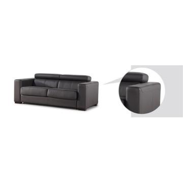Кожаный диван из натуральной кожи из шезлонга с электроприводом (746)