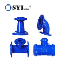 Epoxy Coating Loosing Flanged Tee Ductile Iron Pipe Fittings for Industry