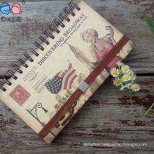High Quality Attractive Elastic Band Bulk Spiral Notebook