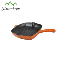 Wholesale New Blue Enamel Kitchenware Cast Iron Griddle Grill Pan