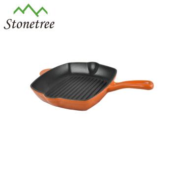 Wholesale New Square Cast Iron Enamel Korea BBQ Grill Pan