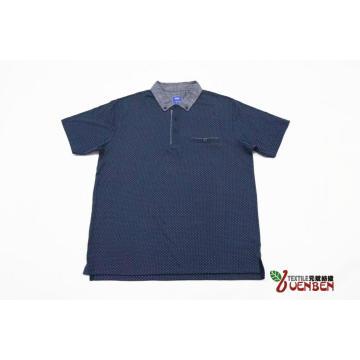 Camisa de gola Oxford estampada em Jersey masculino
