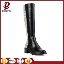 Skóra i tkanina szwy popularne buty damskie