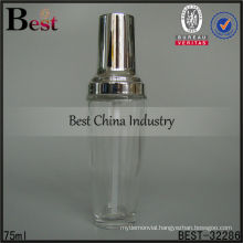 75ml fancy design lotion bottle with silver pump and cap for serum, alibaba china lotion bottle, measuring bottle ml, skin care