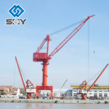Single Jib and four link type Harbour 25t shipyard portal crane More questions, please send message to us!