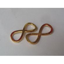 Matériau en alliage de zinc conception pendentif en or simple à vendre