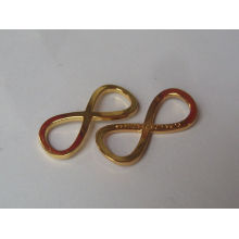 Material de liga de zinco design de pingente de ouro simples à venda