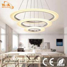 Lâmpada de pendente de cristal redonda extravagante três para o projeto do hotel