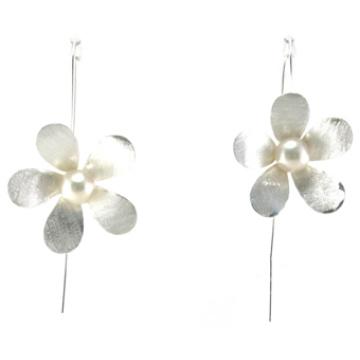 Pendiente de calidad superior de la manera de la señora Jewelry 925 Silver Pearl (E6572)