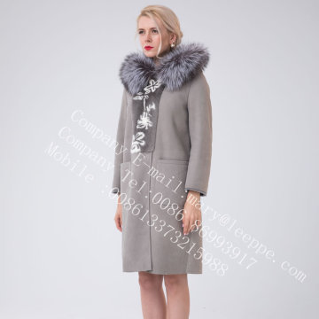 Hooded Spain Merino Shearling jas voor dames