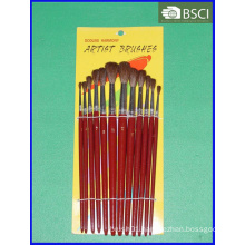 12PCS Wooden Handle Artist Brush Set (AB-069)