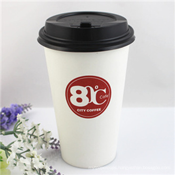 Paper Cup with PLA Coating, Eco Reusable Smoothie Cups, 12oz PLA Single Wall Paper Cups