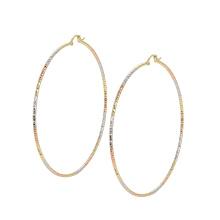 97429 xuping à la mode multicolore grande forme de cercle charmes dames boucles d'oreilles