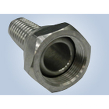 Metric Female 74 Degree Cone Seat Swaged Hose Fittings Replace Parker Fittings and Eaton Fittings