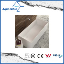 Bathroom Square Solid Surface Freestanding Bathtub (AB6545)