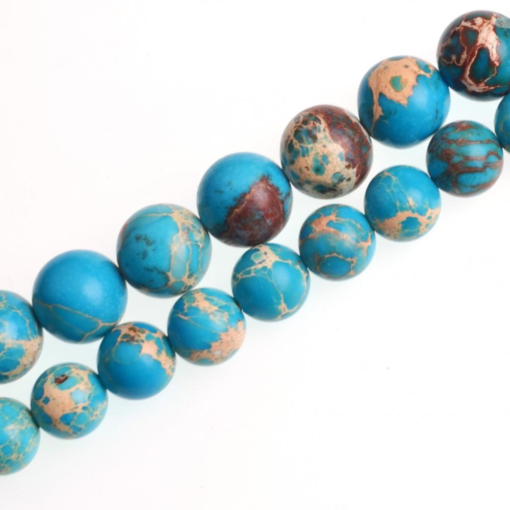 Blue Emperor Stone Smooth Round Beads 8mm