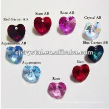 Coração de diamante, pingente de cristal