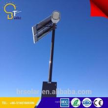 A rua de poupança de energia solar dos lps 55w conduziu a luz de pólo do poder