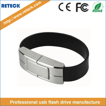 Leather Wristband Memory Stick USB Flash Drive