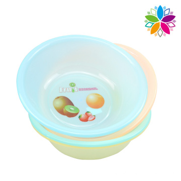 Round Plastic Fruit Design Washing Basin (SLP001)