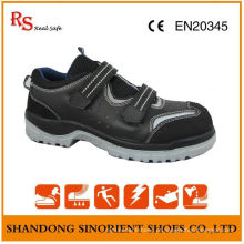 RS Real Safe Brand No Lace Sapatos de segurança, Suede Leather Summer Safety Shoes RS015