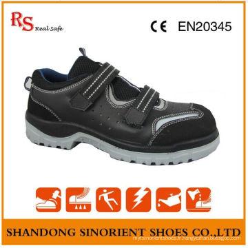 RS Real Safe Marque Pas de chaussures de sécurité en dentelle, cuir de daim Chaussures de sécurité d'été RS015