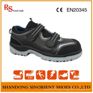 RS Real Safe Brand No Lace Safety Shoes, Suede Leather Summer Safety Shoes RS015