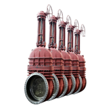 Gear operation gate valve 2