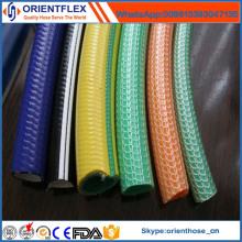Manguera de jardín hecha punto plástica del PVC de la fuente del fabricante de China