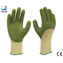 13G Polyester Liner Latex 3/4 Coated Work Glove, Wave Finish
