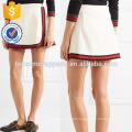 Nova Moda Stripe Guarnição Sarja Mini Saia Diária DEM / DOM Fabricação Atacado Moda Feminina Vestuário (TA5142S)
