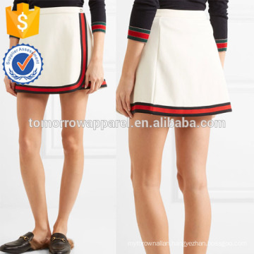 New Fashion Stripe Trimmed Twill Mini Daily Skirt DEM/DOM Manufacture Wholesale Fashion Women Apparel (TA5142S)