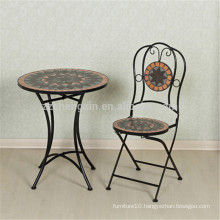 movable garden furniture mosaic table and chair